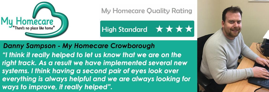 Crowborough set the bar high – My Homecare Quality Audit