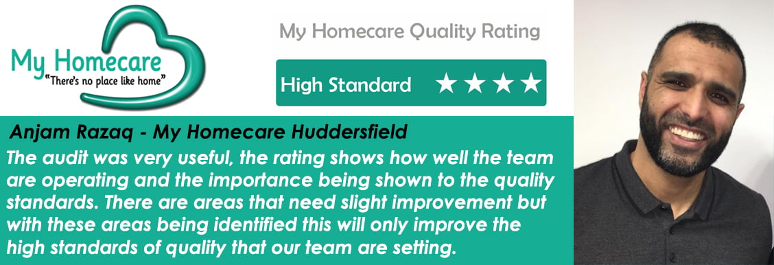 Huddersfield rated as working to a High Standard – My Homecare Quality Audit